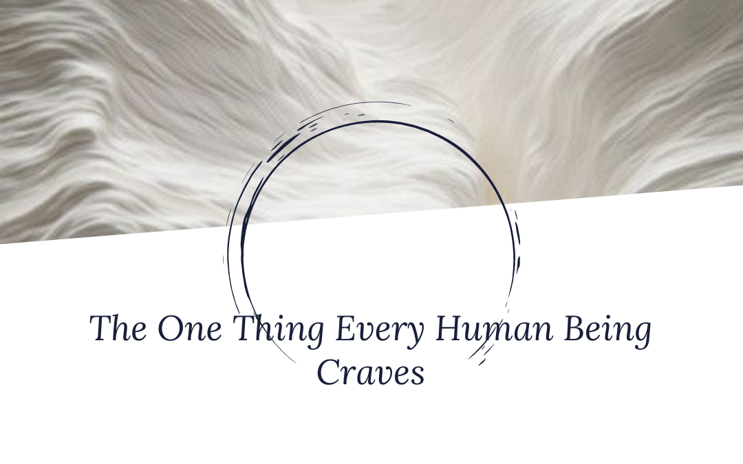 The One Thing Every Human Being Craves